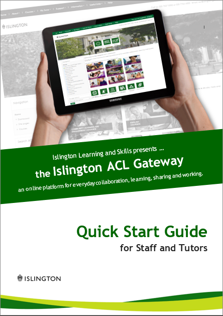 User guide for staff and tutors